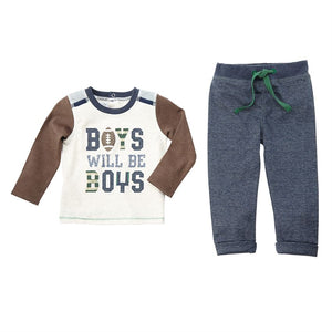 Boys Will Be Boys Top and Pant Set