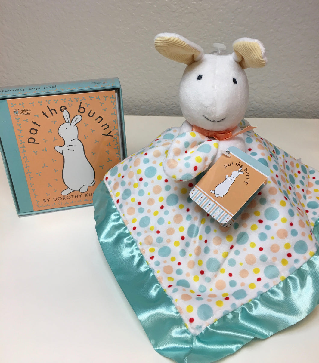 Pat the Bunny Board Book & Bunny Blanket