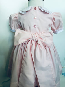 Pink Rose Smocked Dress