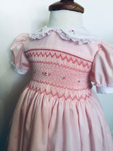 Load image into Gallery viewer, Pink Rose Smocked Dress