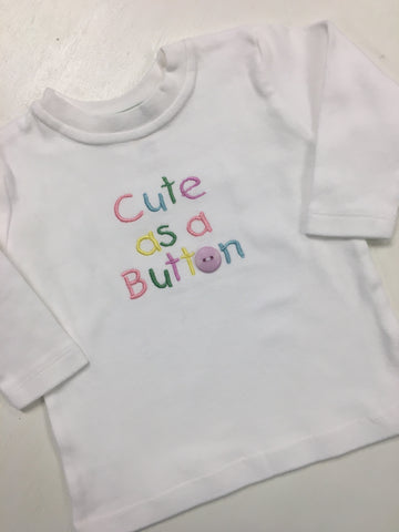 Cute as a Button Tee Shirt