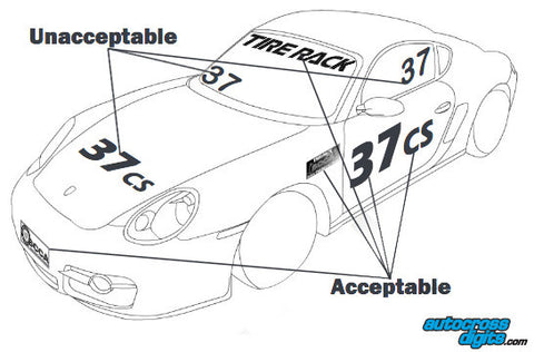 SCCA Rulebook Autocross Markking Example