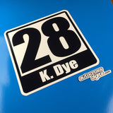 Magnetic Name/Number Square Panel Autocross Numbers - 12""