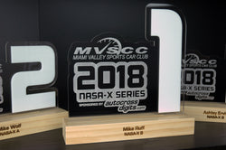 Large Acrylic Year End Awards with Pine Base