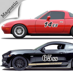 Premium Magnetic Autocross Numbers with Outline