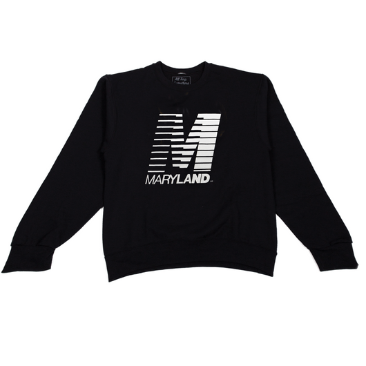 Retro M Crewneck (Black/White)