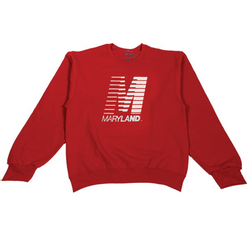 Retro M Crewneck (Red)