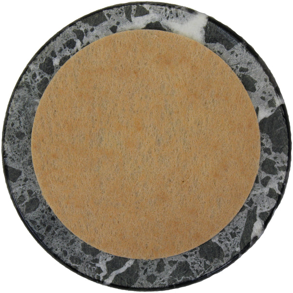 Natural Geo Black/White Decorative Round Marble Drink Coaster (Set of 6)