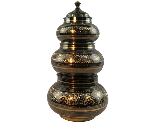Natural Geo 6 Piece Brass Pot Decor Set