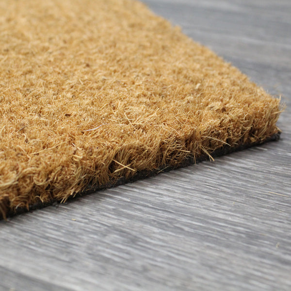 Natural Geo Island Sweet Home Gray/Beige Natural Coir Door Mat 18 x 30""