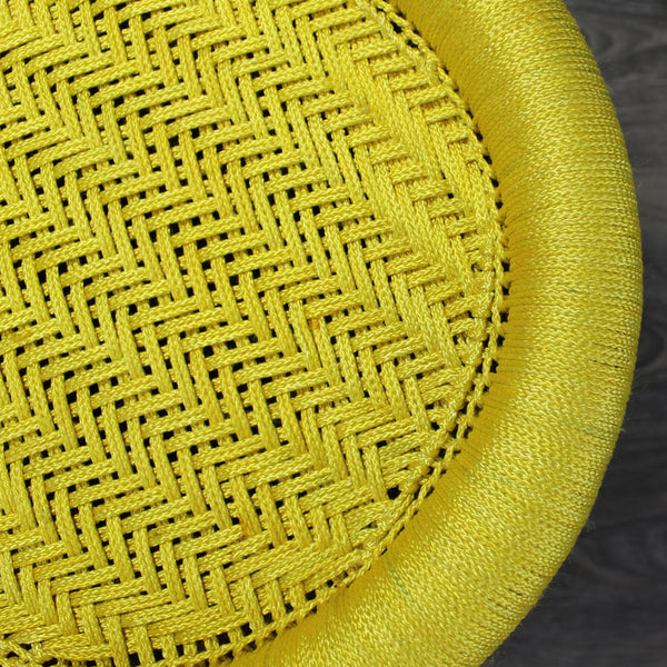 Natural Geo Decorative Handwoven Yellow/Green/Maroon Accent Stool
