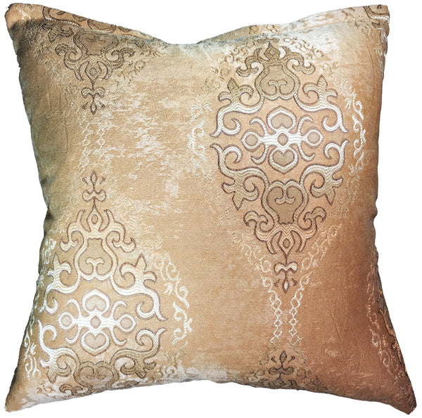 Natural Geo Golden Shimmer Majesty Abstract Throw Pillow