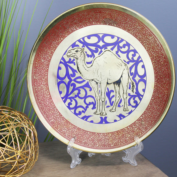 Natural Geo Camel Decorative Brass Accent Plate