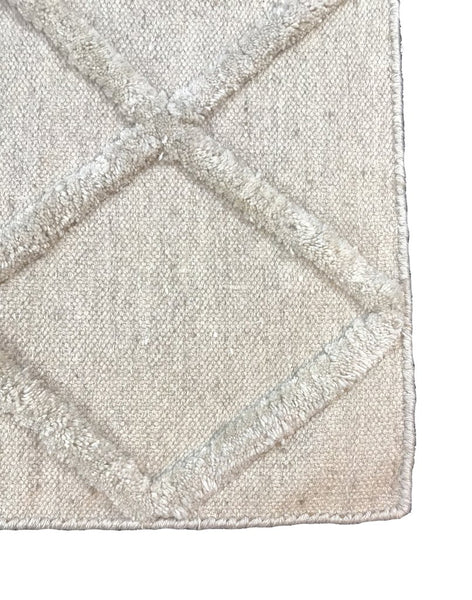 Natural Geo Boston Cream Area Rug with Padding