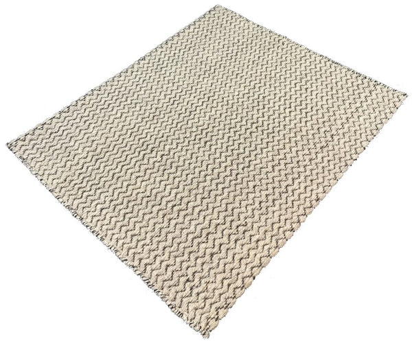 Natural Geo Charlestown Natural/Brown Area Rug with Padding