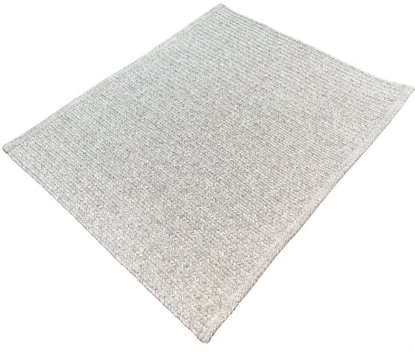 Natural Geo Cora Gray Area Rug with Padding