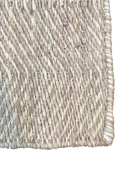 Natural Geo Native Natural Area Rug with Padding
