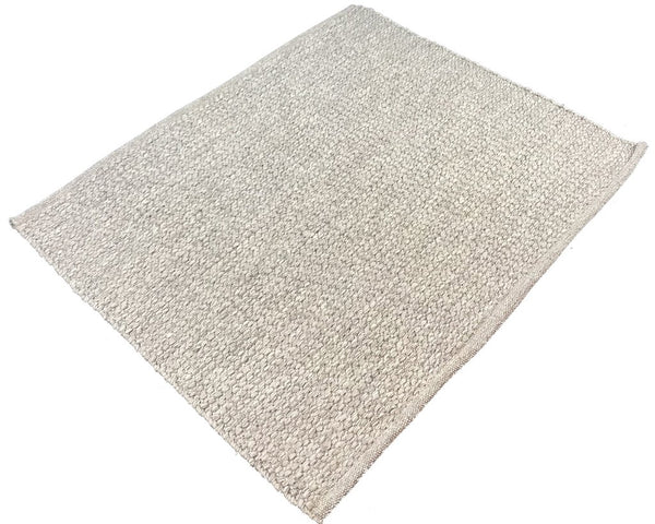 Natural Geo Pebble Gray Area Rug with Padding