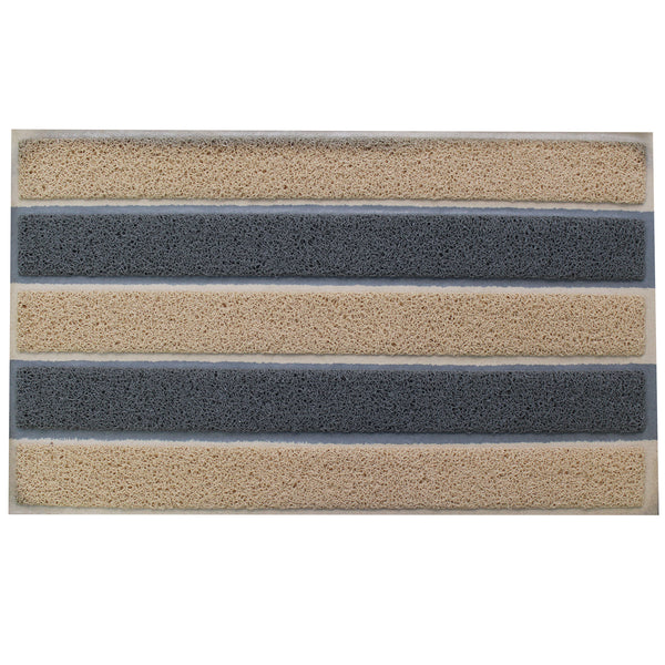 Natural Geo Sponge Rubber Striped Kitchen Mat 18 x 29""