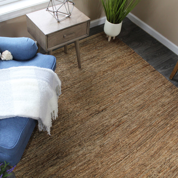 Natural Geo Spontaneous Jute Handwoven Beige/Natural Area Rug