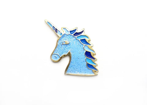 Magical Unicorn Pin - Blue Sparkle - Majesty and Friends - available from Majesty and Friends