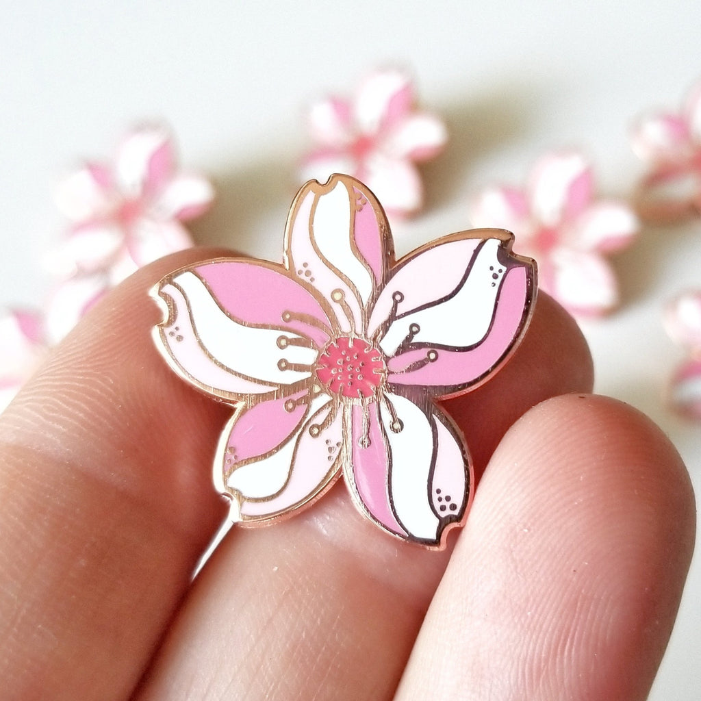 LanaBetty Cherry Blossom Enamel Pin - LanaBetty - available from Majesty and Friends