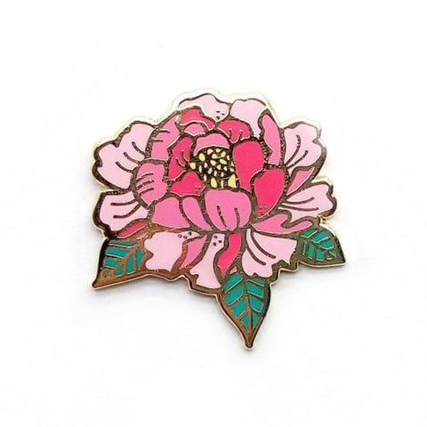 LanaBetty Peony Enamel Pin - LanaBetty - available from Majesty and Friends