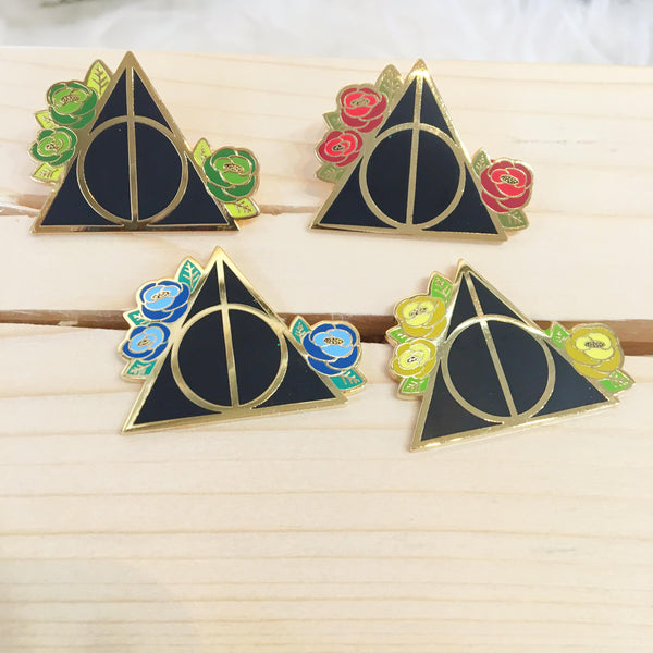 Deathly Hallows - Slytherin - Enamel Pin - Majesty and Friends - available from Majesty and Friends