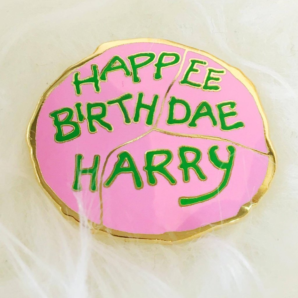 Happy Birthdae Harry - Enamel Pin - Majesty and Friends - available from Majesty and Friends