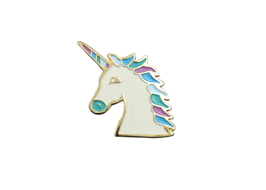 Magical Unicorn Pin - White Pearl - Majesty and Friends - available from Majesty and Friends