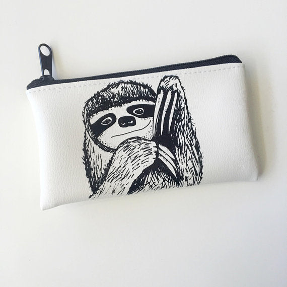 Small Sloth Pouch - Majesty Industries - available from Majesty and Friends