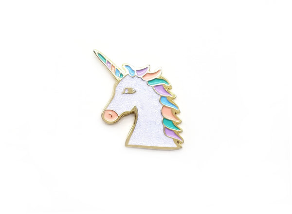 Magical Unicorn Pin - White Sparkle - Majesty and Friends - available from Majesty and Friends