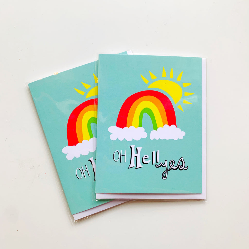 Card: Oh hell yes! - Majesty and Friends - available from Majesty and Friends