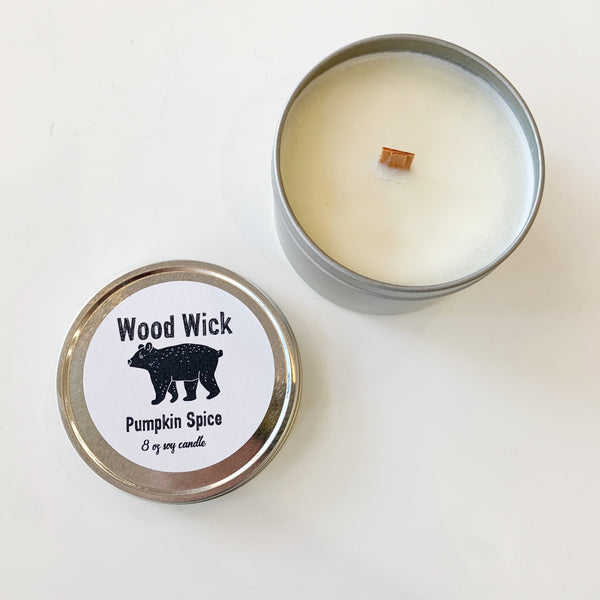 Wood Wick Candle Pumpkin Spice - Majesty and Friends - available from Majesty and Friends