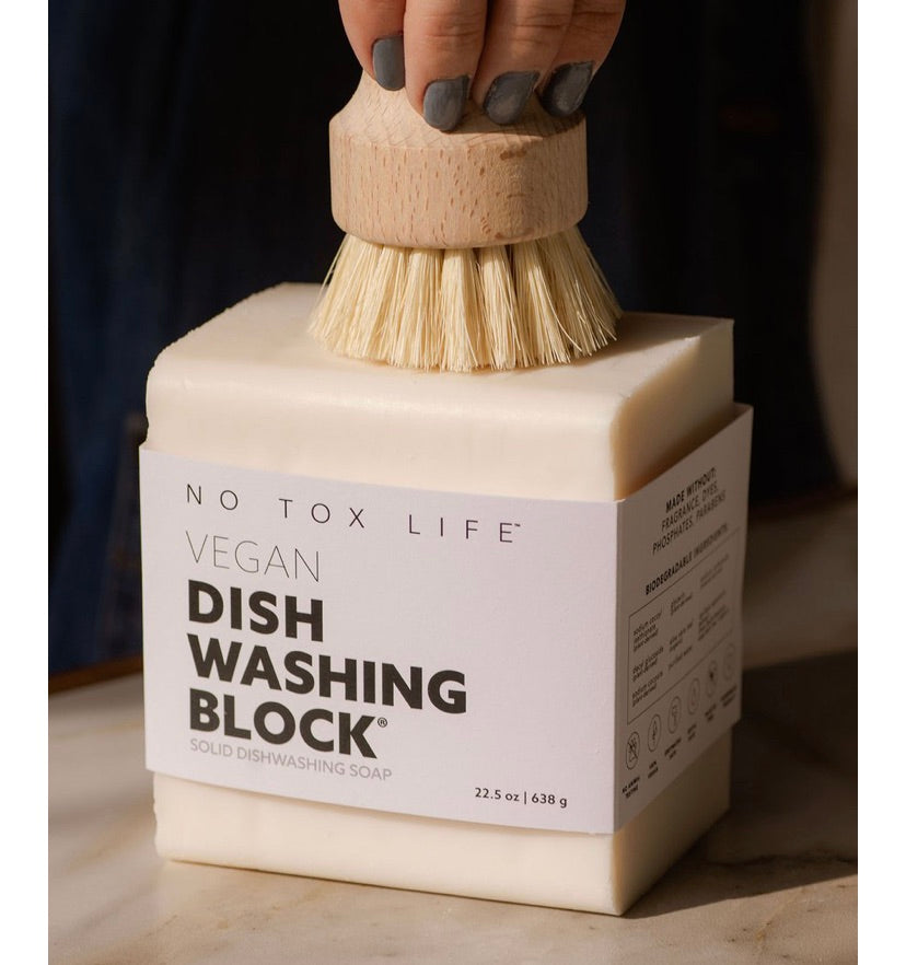 No Tox Life Solid Dishwashing Block XL - No Tox - available from Majesty and Friends