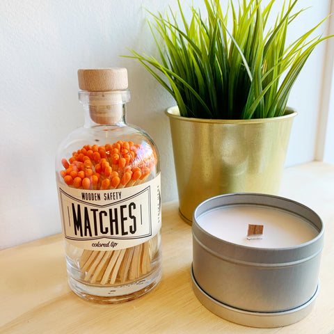 Apothecary Matches in Orange