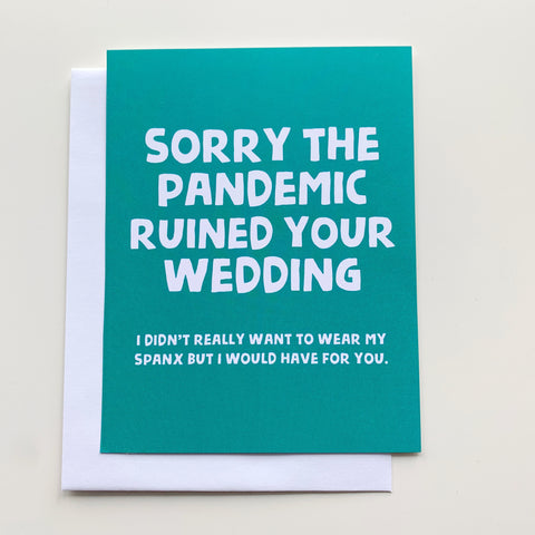 Card: Pandemic Wedding - Majesty and Friends - available from Majesty and Friends