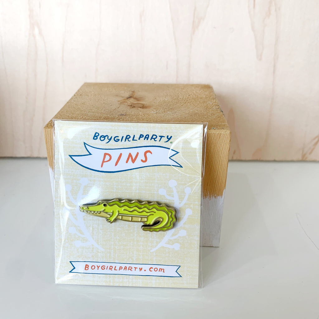 Boy Girl Party Pin Alligator - Boy Girl Party - available from Majesty and Friends