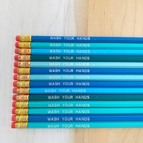 Wash Your Hands Pencils! - Majesty Industries - available from Majesty and Friends