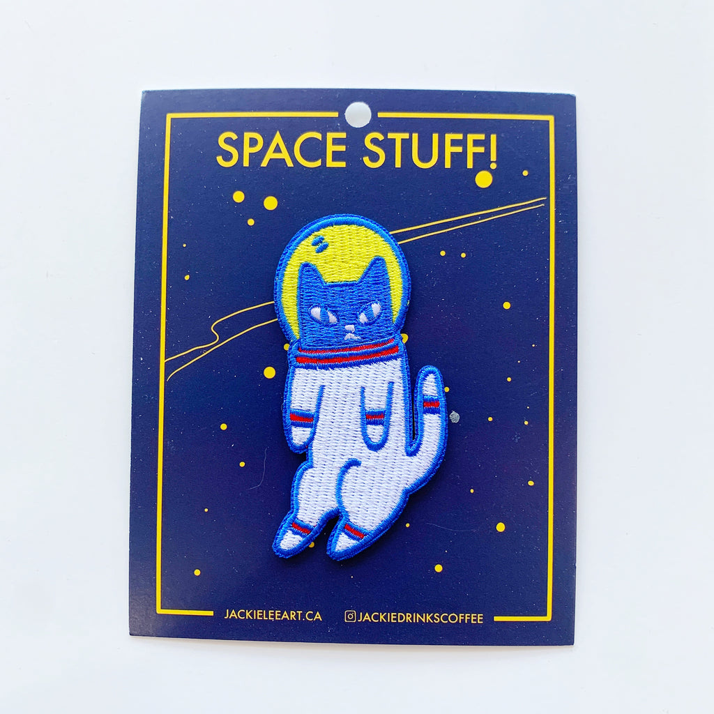 Space Cat Patch - Jackie lee - available from Majesty and Friends