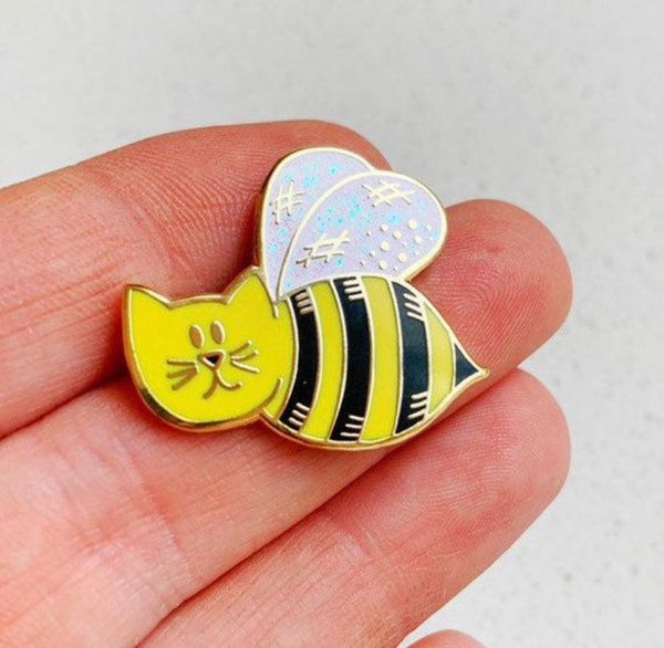 Bumble-Cat Enamel Pin - Majesty and Friends - available from Majesty and Friends