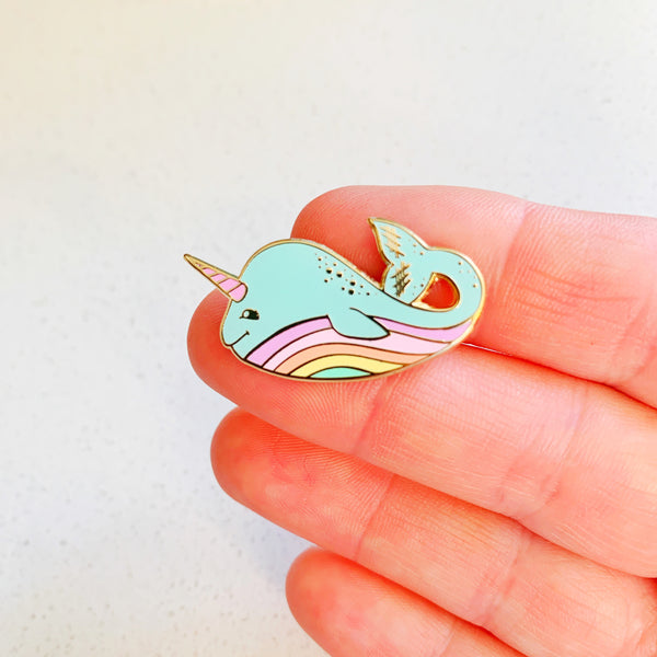 Narwhal Enamel Pin - Majesty and Friends - available from Majesty and Friends
