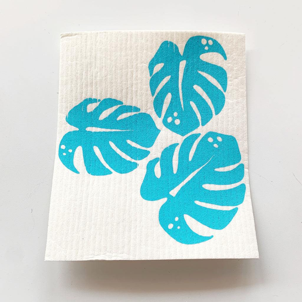 Monstera Leaf Swedish Cloth - Majesty and Friends - available from Majesty and Friends