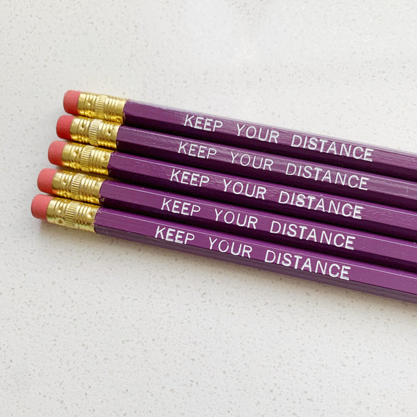 Keep your Distance Pencils - Majesty and Friends - available from Majesty and Friends