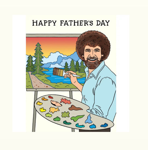 Card: Fathers Day Bob Ross