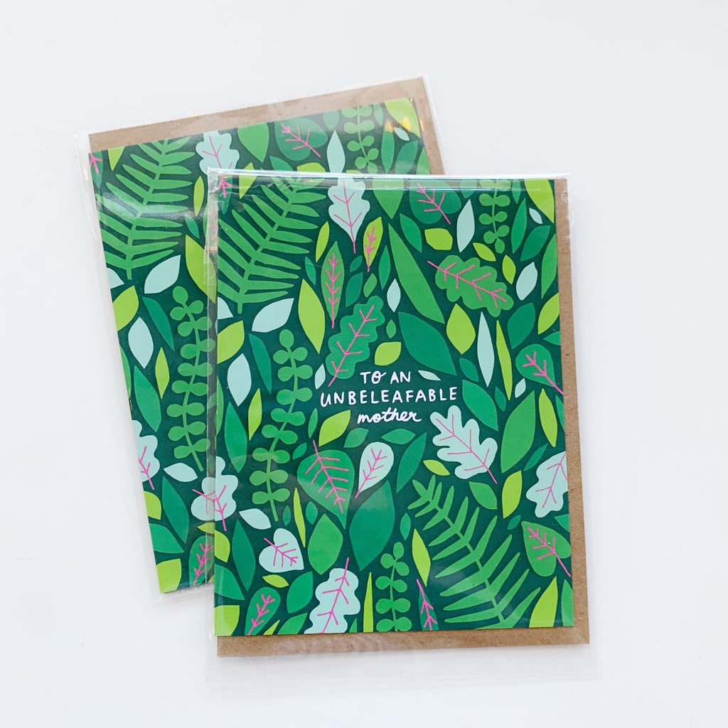 Card: Mothers Day, Un be leaf able - Majesty and Friends - available from Majesty and Friends