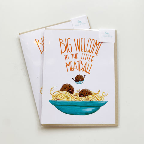 Card: Baby Meatballs! - Majesty and Friends - available from Majesty and Friends