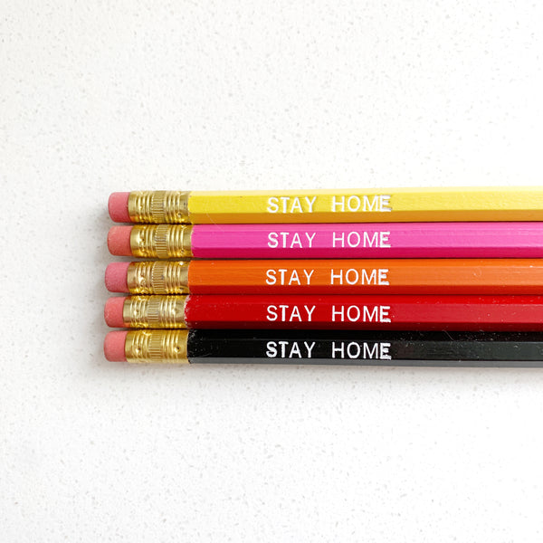 Stay Home Pencils - Majesty and Friends - available from Majesty and Friends