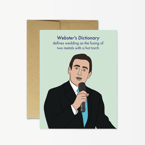 Card: Micheal Scott Wedding Speech