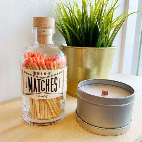 Apothecary Matches in Peach